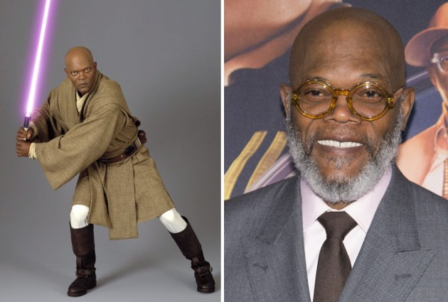 Samuel L Jackson era Mace Windu, 2005 e 2015
