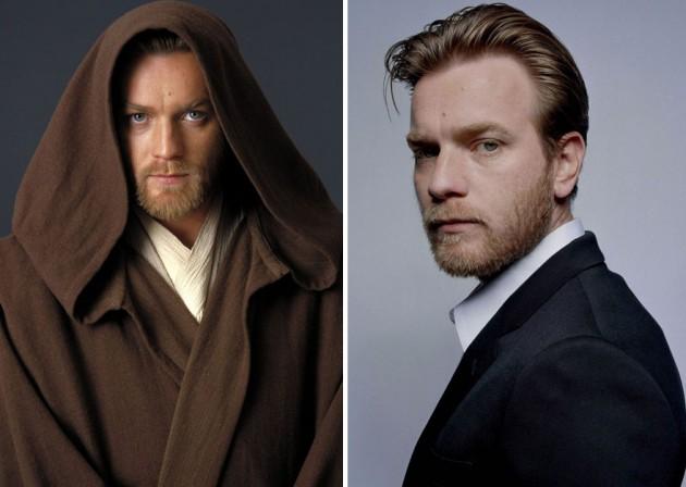 Ewan Mcgregor e Young Obi-Wan Kenobi, 2005 e 2015