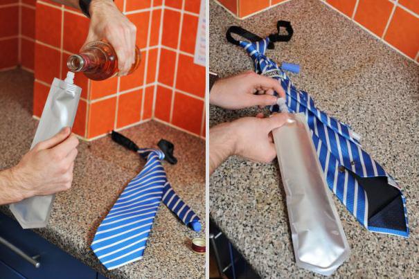 #13 - Coloque a bebida dentro da gravata.
