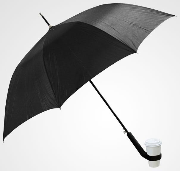 Guarda-Chuva com suporte para copo.