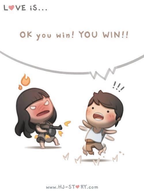 Ok, Você venceu, você venceu!