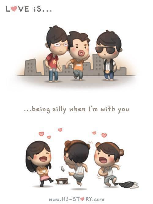 Sendo bobo quando estou com você.