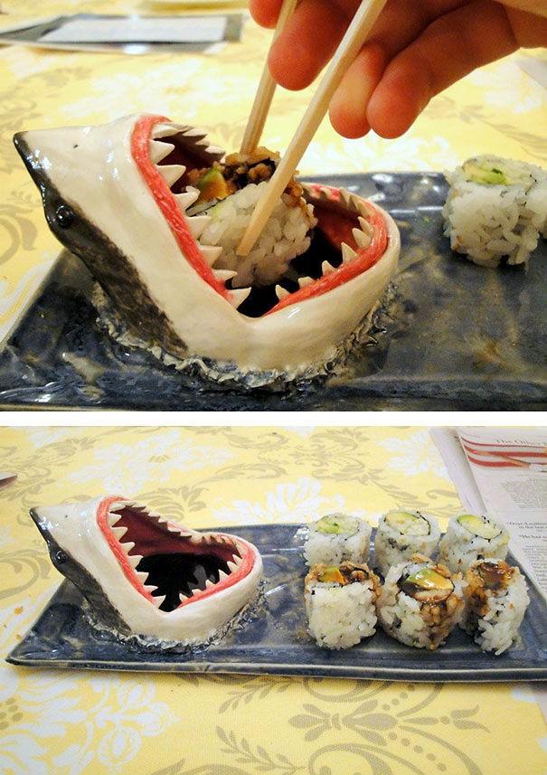 #8 - Porta shoyu de tubarão.