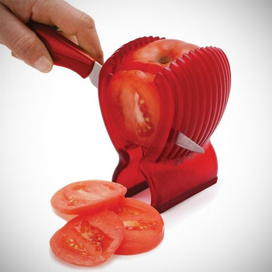 #4 - Cortar um tomate perfeito nunca foi tão fácil.