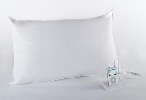 Travesseiro com sistema de Som para ligar no seu gadget