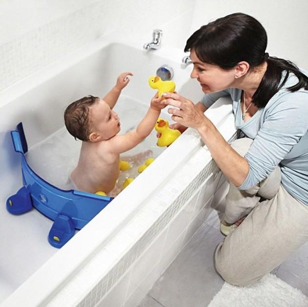 Esse produto limita o tamanho da banheira, economizando muita água.