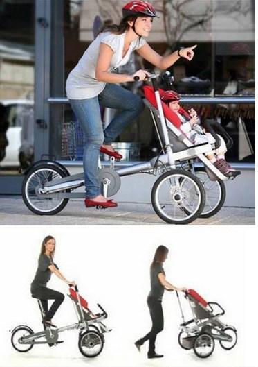 Bicicleta especial para levar os filhos.