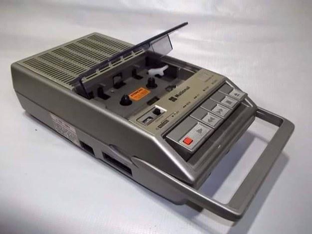 Gravador de voz portátil era a coisa mais chique do mundo.