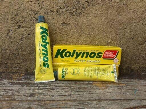 Dentifrício Kolynos, mais conhecido hoje como Pasta de dente.