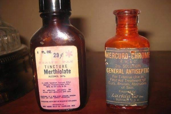 Merthiolate e mercurio era o pesadelo de qualquer criança.