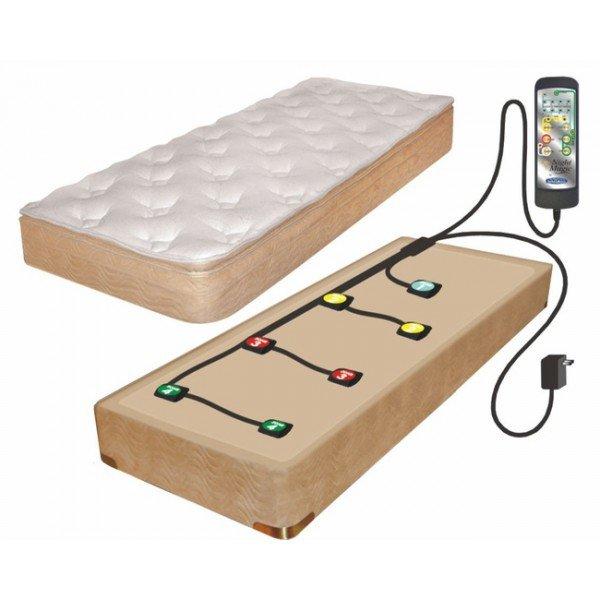 Sistema para ter uma massagem relaxante no próprio colchão.