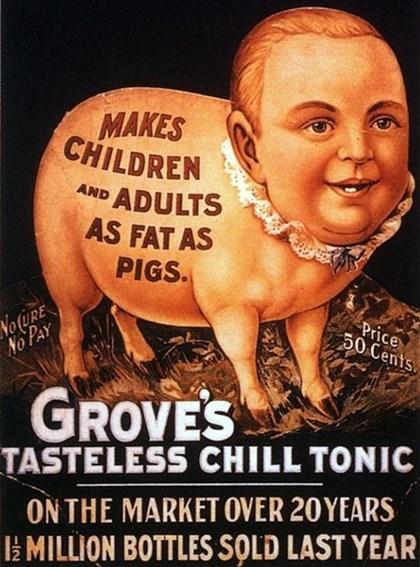 O tônico que deixa crianças e adultos tão gordos quanto porcos