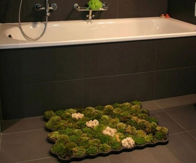 #7 - Tapete de musgo natural pra você se sentir pisando na grama.