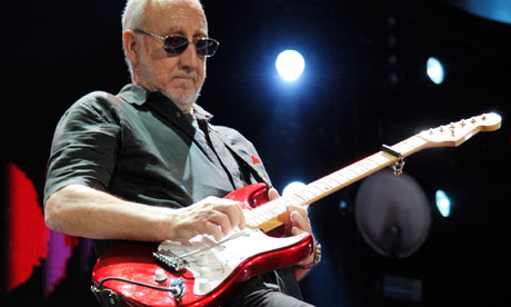 Pete Townshend on stage in New York, February 2013