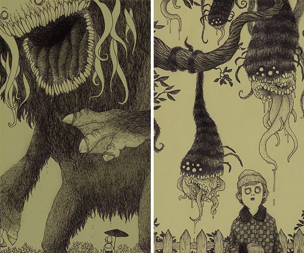 creepy-childhood-monsters-sticky-notes-don-kenn-12