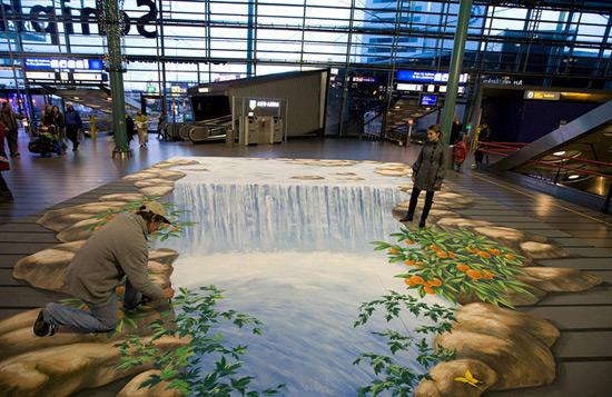 Waterfall-Amsterdam-Airport