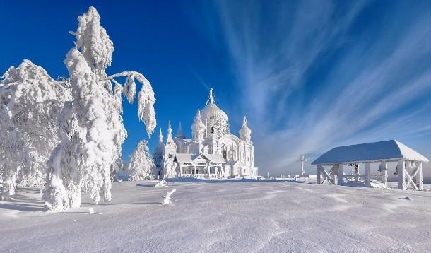 Inverno na Sibéria.