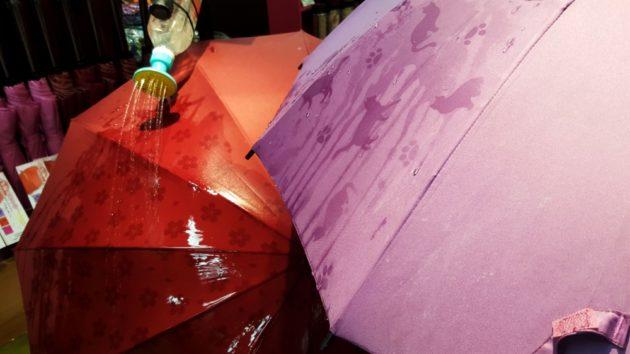 Guarda chuva com desenhos que aparecem depois de molhados.