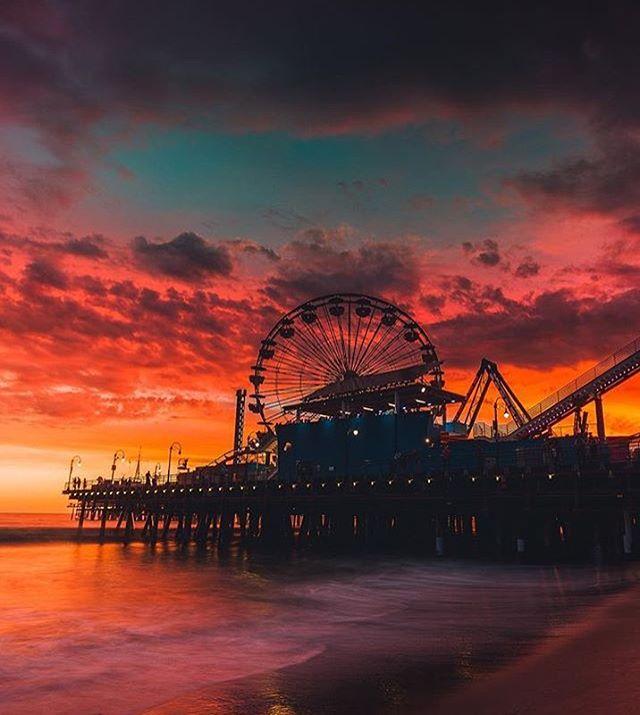 #5 - Por do sol em Santa Mônica, Califórnia. • Clique por: @neohumanity