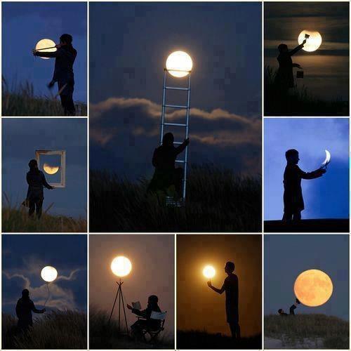 #16 - Brincando com a lua.