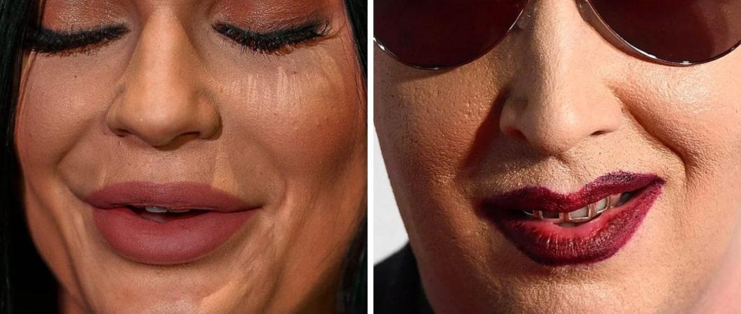 15 fotos de celebridades vistas de perto revelando como elas realmente são
