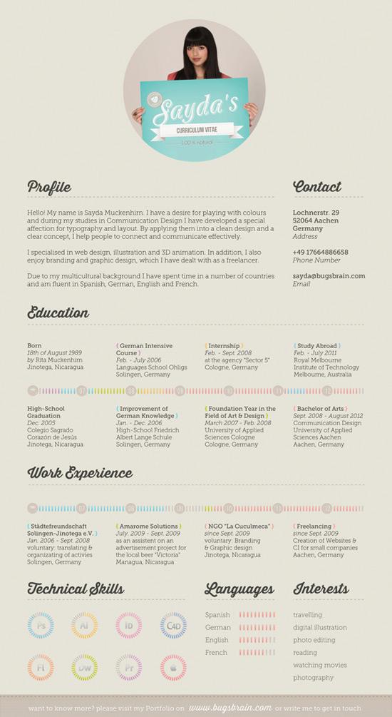 50 curriculos de designers criativos