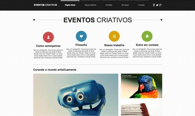 Eventos Criativos template