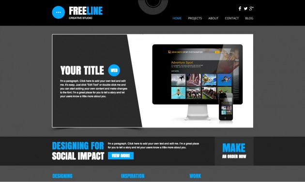 web studio template