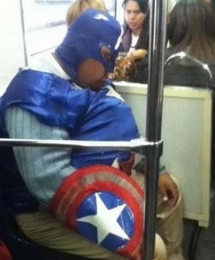 Capitão America do Fasts Food.