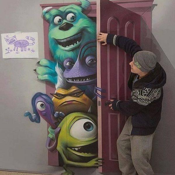 #13 - Parede/Porta Monstra