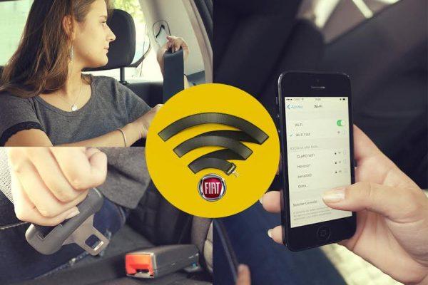 Ação da Fiat em Taxi só ativa o Wi-Fi se o passageiro colocar o cinto de segurança.