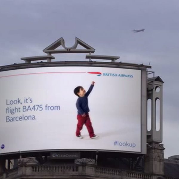 British-Airways- outdoor interativo