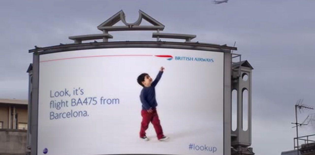 British-Airways- outdoor interativo
