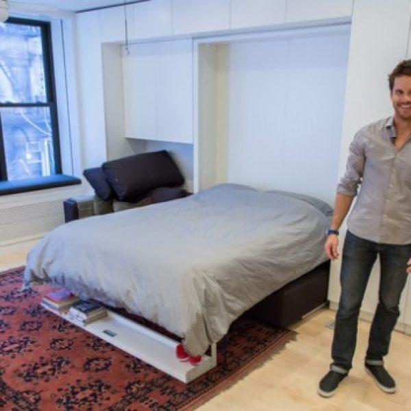 Maior até que sua casa | Mini Apartamento de 40 metros projetado para ter 8 cômodos.
