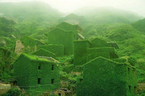 Natureza retoma vila abandonada de pescadores na China 1