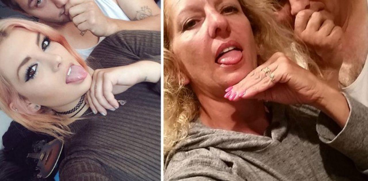 Trollando os mais novos - Pais recriam fotos meigas e engraçadas da filha e namorado adolescentes. 4
