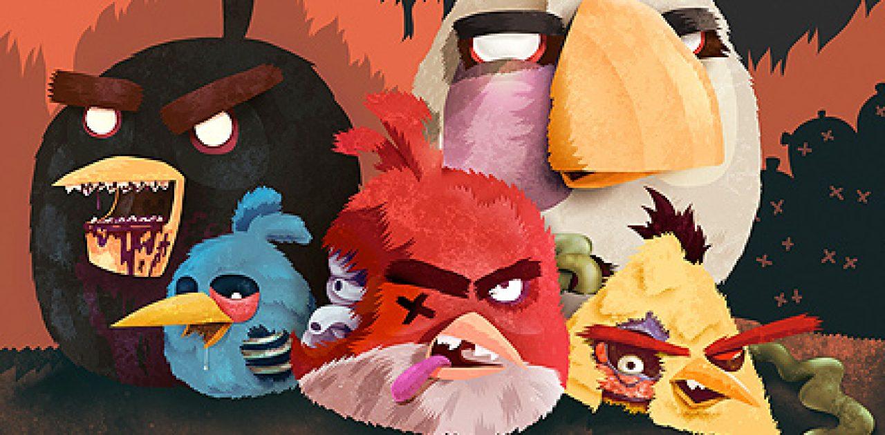 Ilustracoes Do Angry Birds Versao Zumbi