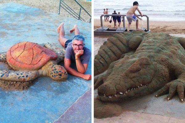 animais de areia capa