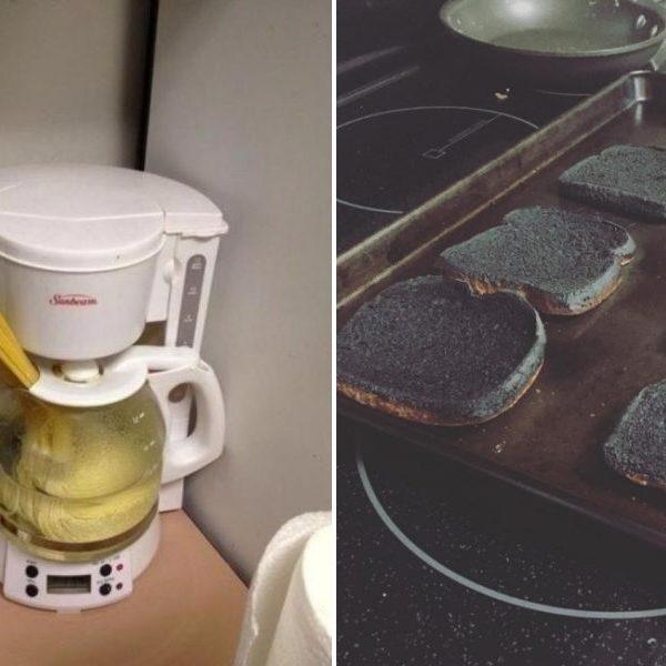 desastres na cozinha