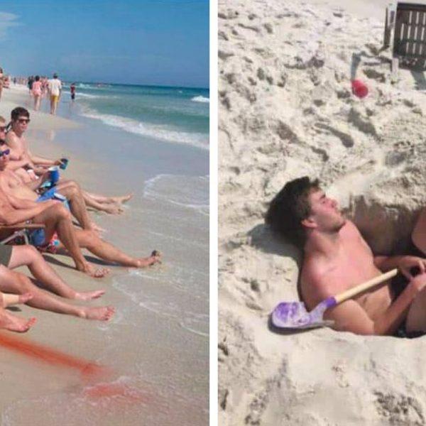 cena inusitada na praia capa
