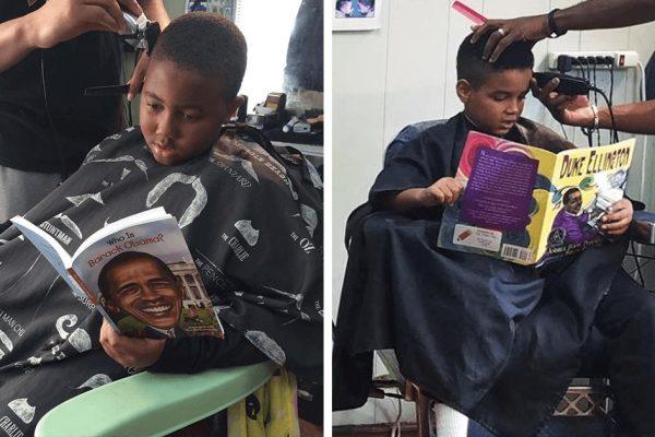 criança lendo capa