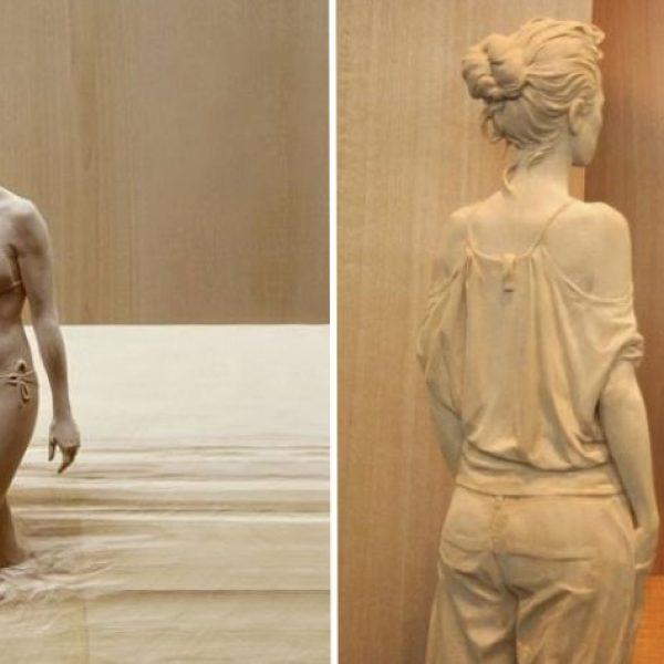 escultura de madeira capa