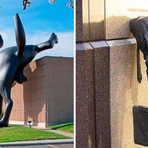 estátuas bizarras capa
