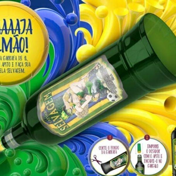 garrafa vuvuzela capa