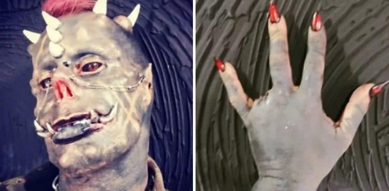 homem demônio capa