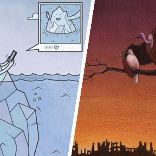 ilustrações sarcásticas capa
