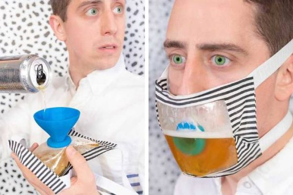 máscara com cerveja capa