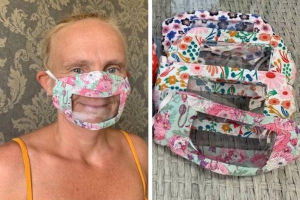 máscara que mostra a boca capa
