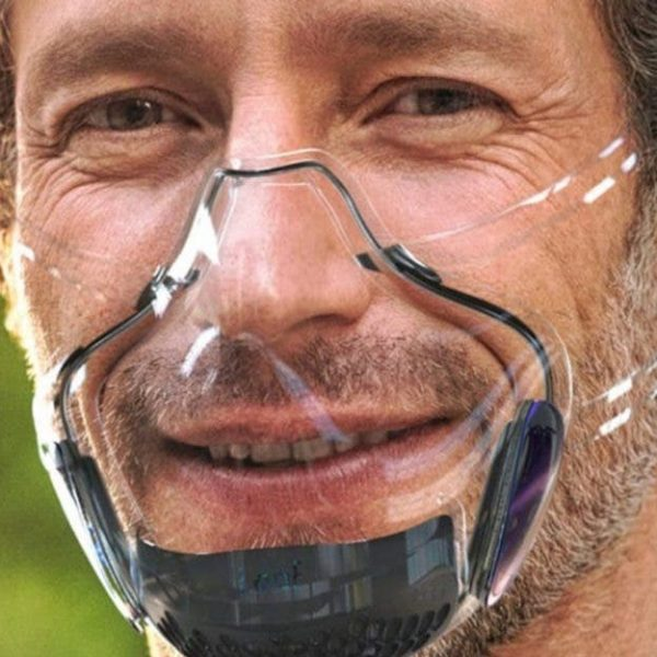 máscara transparente capa