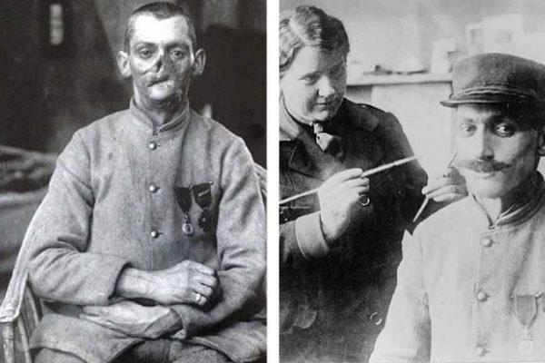 máscaras para soldados capa